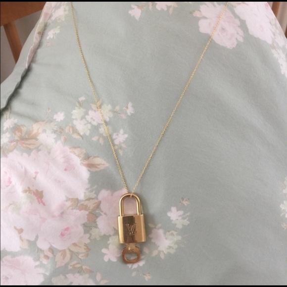 88bd15cc1dc6 Louis Vuitton Jewelry - Louis Vuitton Lock   Key Necklace